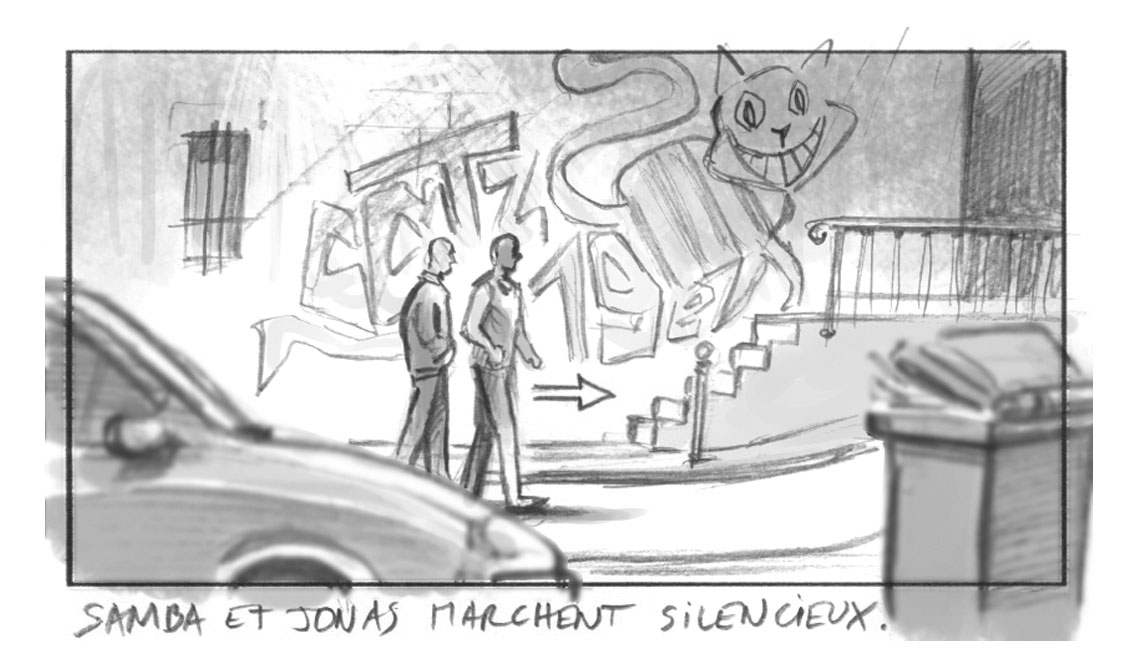 storyboard Samba Eric Toledano Olivier Nakache Omar Sy Charlotte Gainsbourg